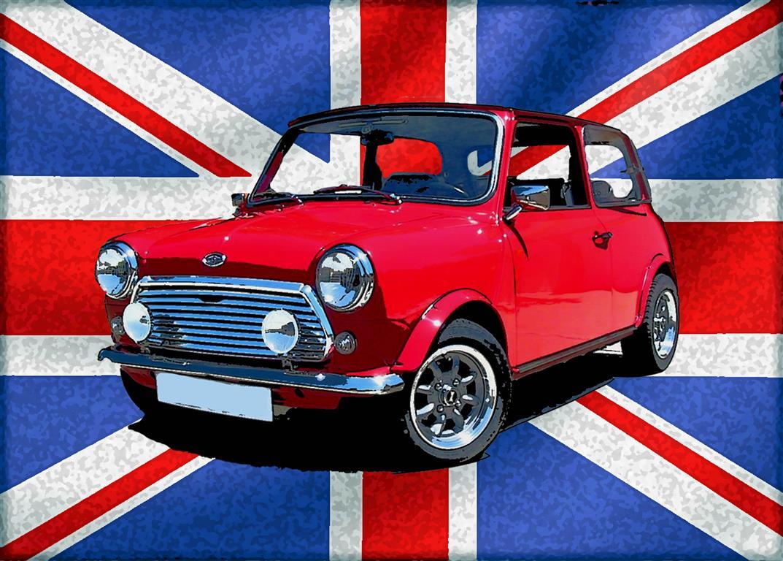 Union Jack Mini Cooper